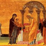 The Presentation of the Lord in the Temple ! From the Menologion of Basil II (10th Century)