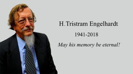 In Memorium: Reader Herman (H. Tristram) Engelhardt (1941-2018) [VIDEO]