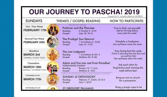 Journey to Pascha 2019