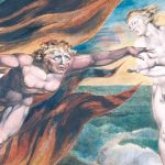 """""""The Good and Evil Angels"""" by William Blake (1795)"""