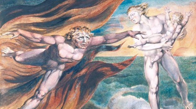"""The Good and Evil Angels"" by William Blake (1795)"