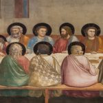 Last Supper, 1306 by Giotto. Proto Renaissance. religious painting. Scrovegni (Arena) Chapel, Padua, Italy