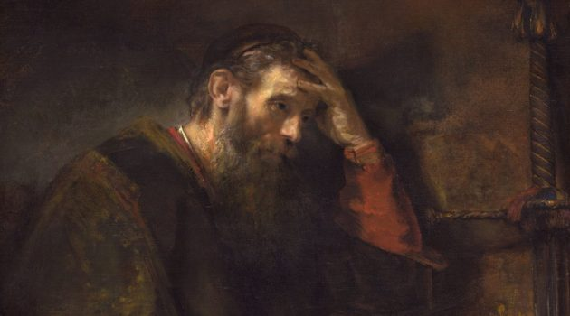 Detail from The Apostle Paul by Rembrandt van Rijn (c1675).