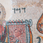 Floor Mosaic David Playing the Harp from a Synagogue in Israel (4 AD)