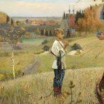 "Mikhail Nesterov ""The Vision to the Youth Bartholomew"" (Russian: Видение отроку Варфоломею)"